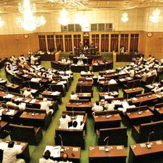 Telangana: 11 Opposition legislators suspended for a day from the Assembly for creating ruckus