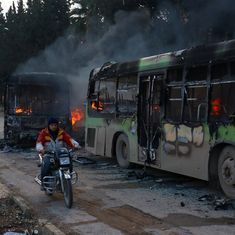 Syria: Rebels burn buses meant to evacuate sick and injured refugees