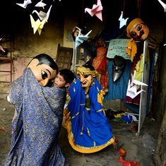 With demolition at the door of Delhi's colony of puppeteers, 300 policemen keep watch