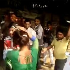 Watch: 20 km from Akhilesh Yadav's hometown, a woman is beaten for protesting against molestation