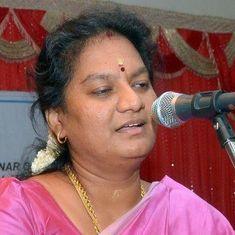 Sacked AIADMK MP Sasikala Pushpa will contest for the party's general secretary post