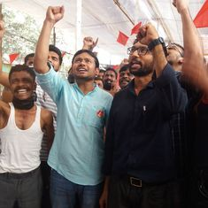 In Mumbai, Kanhaiya Kumar and Dalit leader Jignesh Mevani give a boost to sanitation workers' rally