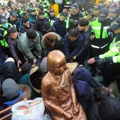 South Korea: Buddhist monk sets himself afire to protest against deal on 'comfort women' with Japan