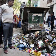 Garbage piles up in Delhi as more sanitation workers join protest against unpaid salaries