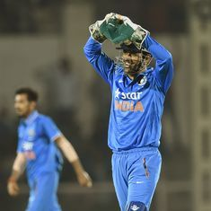 Dhoni's quickfire 68 goes in vain as England XI defeat India A by 3 wickets in first warm-up match