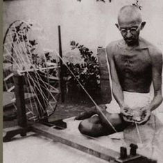 Watch: This was how Mahatma Gandhi spun khadi (and this is how Narendra Modi spins it)