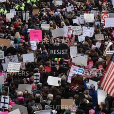 Women's March: This is upside of downside, Gloria Steinem says as over a million take to streets