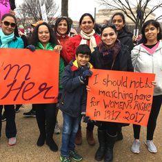 'Super callous racist fascist extra braggadocious':  Desi voices from Washington's Women's March