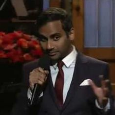 Watch: The first comic artist to take on US President Trump was Indian American Aziz Ansari