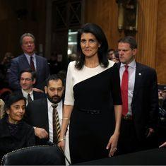 US Senate confirms Nikki Haley as ambassador to the United Nations
