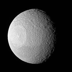 Nasa releases images of Death Star lookalike – Saturn's moon Tethys