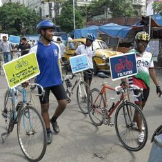 In Kolkata, citizens defy police attempts to squeeze bicycles off the road