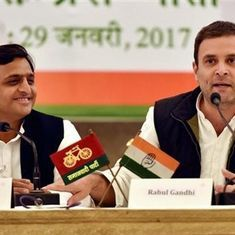 Watch: Rahul Gandhi and Akhilesh Yadav's road show in Lucknow quickly became a comedy of errors