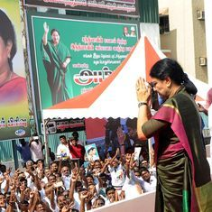 Chennai: Sasikala posters taken down at AIADMK headquarters