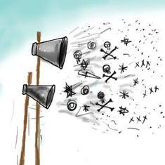 कार्टून : शौच से ज्यादा खुले में स्पीच पर रोक लगना जरूरी है