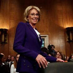 US Senate confirms Betsy DeVos as education secretary after Mike Pence casts tie-breaking vote