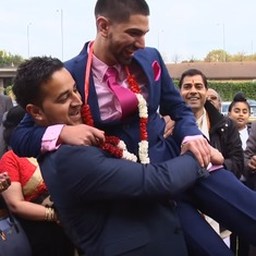 Is that wrestling? Watch how Punjabi-Sikh weddings break the ice between families