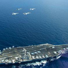 चीन को चुनौती देते हुए अमेरिकी लड़ाकू विमानों ने दक्षिण चीन सागर के ऊपर उड़ान भरी