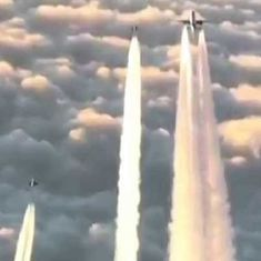 Watch: Here's how it feels to have your plane escorted by fighter planes