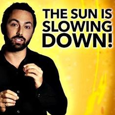 Watch: What is making the sun slow down as it rotates on its axis (yes, it does, just like Earth)?