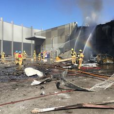 Five killed as charter plane crashes into shopping mall in Melbourne