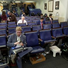 White House bars BBC, Times and other news organisations from press briefing