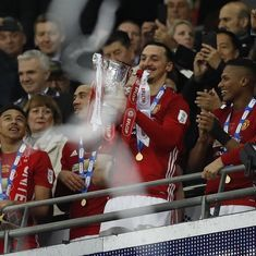 Zlatan Ibrahimovic double helps Manchester United beat Southampton 3-2 to lift EFL Cup
