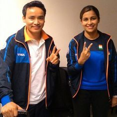 Jitu Rai and Heena Sidhu win gold in 10m air pistol mixed event at ISSF World Cup