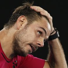 Defending champion Stan Wawrinka ousted in the first round of the Dubai Open by Damir Dzumhur