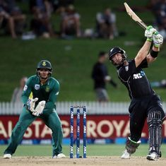 Martin Guptill's brutal 180 helps New Zealand level ODI series against South Africa