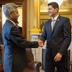 US Speaker Paul Ryan meets Foreign Secretary S Jaishankar, condoles Indian engineer's death