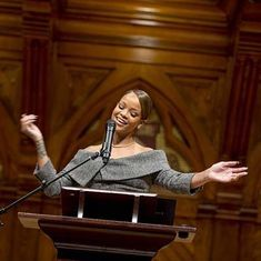'We're all human, and we all just want a chance': Watch Rihanna give a touching speech at Harvard