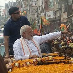 'Ghar Ghar Modi': Supporters cheer as prime minister begins UP polls road show in Varanasi