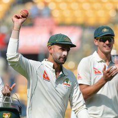 Nathan Lyon gets 8/50 as Australia bowl India out for 189 in Bengaluru