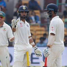 Pujara and Rahane's 93-run partnership takes India to 213/4 at stumps on Day 3, lead now 126