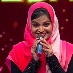 A Muslim singer got hateful messages on Facebook for performing a Hindu devotional song on a TV show