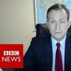 Watch: Children imitate the children who happily barged into their father's live BBC  interview