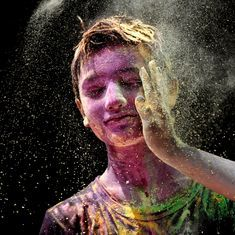 Holi in photos: Colours, crowds and celebrations