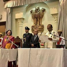 मणिपुर : भाजपा के एन बिरेन सिंह मुख्यमंत्री बने, साथ में आठ और विधायकों ने मंत्री पद की शपथ ली