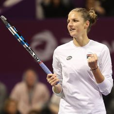 Karolina Pliskova rises to world No 1 after Simona Halep crashes out in quarter-finals