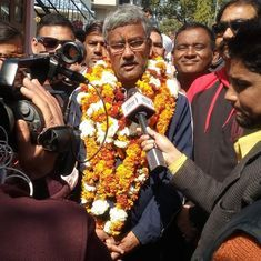 Trivendra Singh Rawat takes oath as eighth chief minister of Uttarakhand