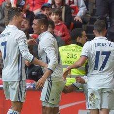 La Liga: Casemiro's strike takes Real Madrid five points clear of Barcelona at the top