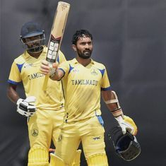 Ton-up Dinesh Karthik shines as Tamil Nadu beat India B by 42 runs to lift Deodhar Trophy