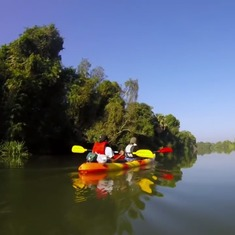 Ever wondered what it's like to take a kayak down an Indian river? This breathtaking video shows you