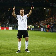 Lukas Podolski scores in farewell match as Germany beat England 1-0