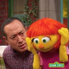 Here is Julia, the Muppet with autism from 'Sesame Street'