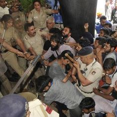 Panjab University students clash with police during protest against fee hike