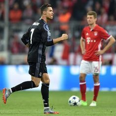 Cristiano Ronaldo could not have chosen a better game to end his Champions League goal drought