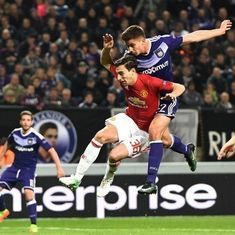 Europa League: Manchester United denied away win by Anderlecht