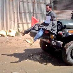 कश्मीर में युवक को सेना की जीप के आगे बांधने का वीडियो वायरल, सेना ने जांच का आदेश दिया